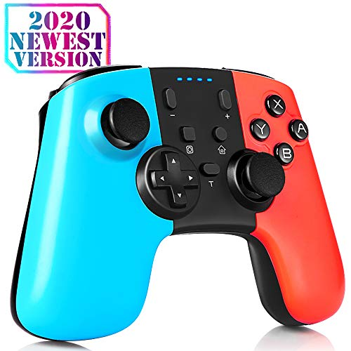 Plusysee Controller for Nintendo Switch, Bluetooth Wireless Pro Controller Switch, Nintendo Switch Controller with Adjustable Turbo Dual Shock Gyro Axis Rechargeable Battery, Switch Accessories