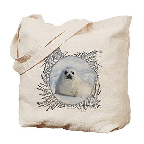 CafePress–Harp Seal–Gamuza de bolsa de lona bolsa, bolsa de la compra