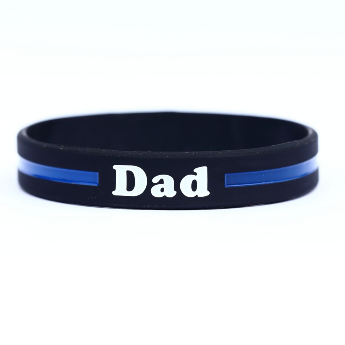 tactical silicone blue img wristband liner bracelet thin products front line