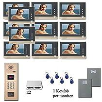Multitenant Video Intercom 11 seven inch monitor door panel camera