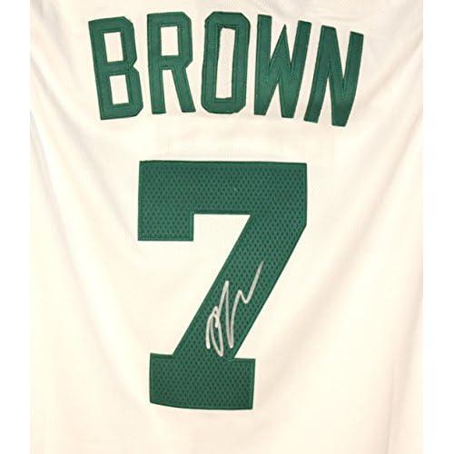 meet d27d3 9b568 Jaylen Brown Boston Celtics Signed Autographed White #7 ...