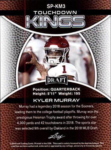2019 Leaf Draft Football RC Rookie Card #SP-KM3 Kyler Murray Touchdown Kings Oklahoma Sooners