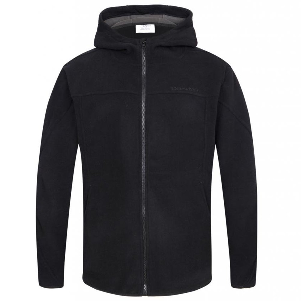 Somewhere Mountain Full Zip Fleece Jacket, Men's Full Front Zip Fleece Casual Lightweight Jacket, Best Birthday Gifts-Black,Small by Somewhere (Image #4)