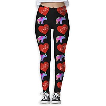 8bda97eaf4ccb Elephant Heart Love Rainbow Triangles Women's Sport Yoga Pants Workout  Leggings Pants Yoga Trousersm