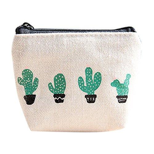 Womail Women Cute Zipper Wallet Card Coin Change Holder Handbags Cactus Series