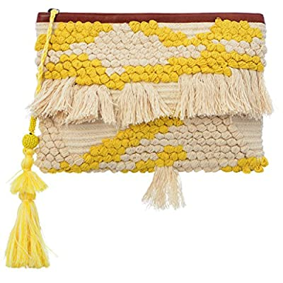 Majorca Clutch in yellow. One of a kind Designer Clutch for every occasion..