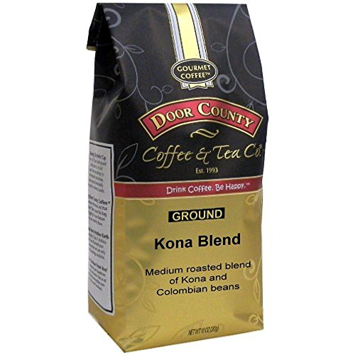 Door County Coffee, Kona Blend, Ground, 10oz Bag (Top 10 Most Expensive Coffee In The World)