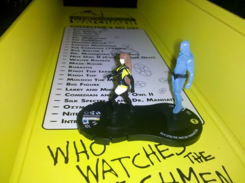 Indy Heroclix Watchmen Silk Spectre and Dr Manhattan -
