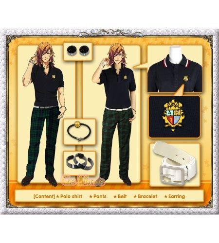 Uta no Prince-sama - Jinguji Ren Summer School Uniform Cosplay Costume [Deluxe Set]