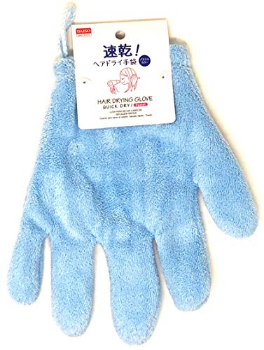 HAIR DRYING GLOVE QUICK DRY Blue 1 pieces
