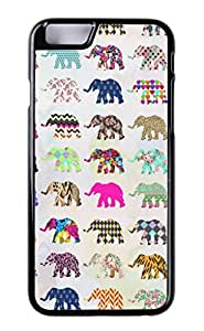 New Hipster Vintage Design Generic Personalized Whimsical Elephant Floral Aztec Chevron Patterns Polycarbonate (PC) Hard Smartphone Skin Cover Art Print Cellphone Case Cellphone Accessories Fits For iPhone 6(Choose from Black and White) by ruishername