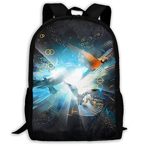 (Webb Backpack Briefcase Laptop Travel Hiking School Bags Parrot Stylish Daypacks Shoulder Bag)