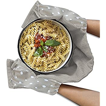 Fennoma Smart Towel 3-in-1 Pocket Kitchen Towel, Cooking Gloves & Trivet, 100% Pure Cotton,Kitchen Dish Towel, Trivet and Oven Mitts and Highly Absorbent