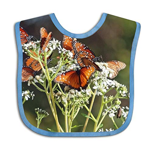 Bandana Drool Bibs For Babies in Brown Butterflies Print
