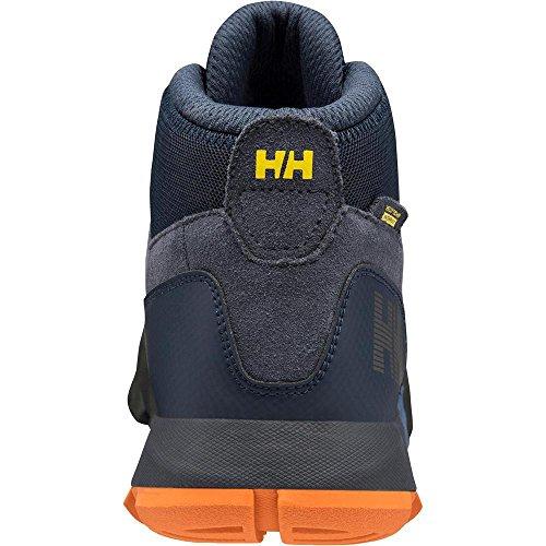 Helly Hansen Loke Rambler Ht, Stivali da Escursionismo Alti Uomo, Nero (Black/Charcoal/Silver 990), 48 EU Blu (Evening Blue/Marine Blue 689)