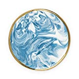 Twine 5974 Marbled Ceramic Plate, One Size, Multicolor