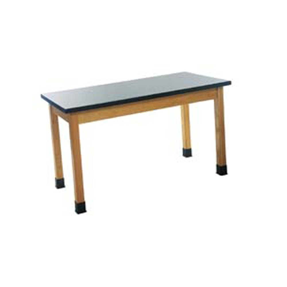 Diversified Woodcrafts P7146K30N - 30''x60'' - 30'' High, Plain Apron Laboratory Table, Red Oak Legs & Apron, Epoxy Resin Top, Made in USA
