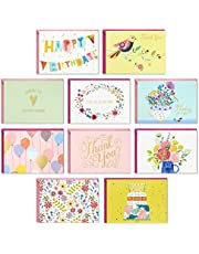 Hallmark Pack of 30 Assorted Boxed Greeting Cards, Good Vibes—Birthday Cards, Thinking of You Cards, Thank You Cards, Blank Cards