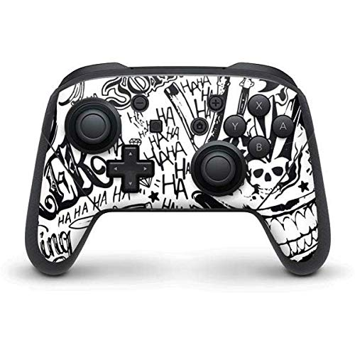 Skinit The Jokers Tattoo Print Nintendo Switch Pro Controller Skin - Officially Licensed Warner Bros Gaming Decal - Ultra Thin, Lightweight Vinyl Decal Protection