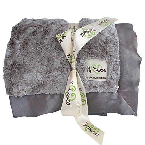 My Blankee Luxe Bella Super Throw Blanket, Charcoal, 60''...
