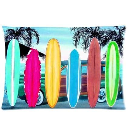 Tablas de surf perfecto para Novelty Bedding funda de almohada Funda de almohada de 20 x