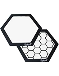 Silicone Dab Mats - (2) 8 Hexagon Mats - Lionhead