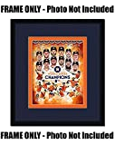 8x10 Photo Frame - with Astros Colors Double Mat