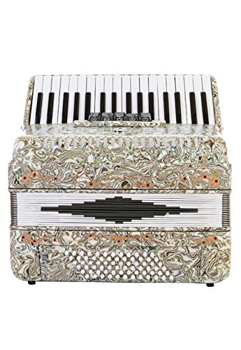 Rossetti Piano Accordion 72 Bass 34 Keys 5 Switches Opal by Rossetti
