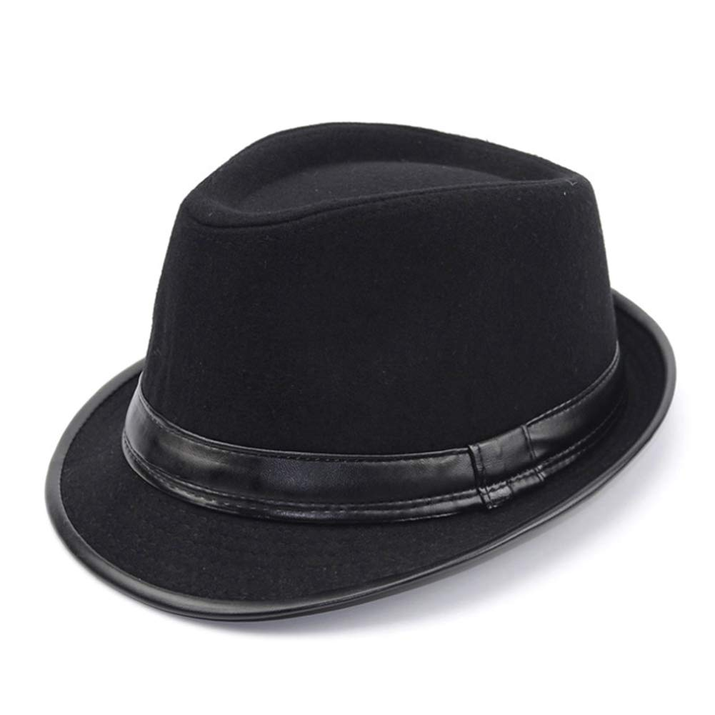 Men Fashion Fedora Jazz Hat Vintage Wool Felt Winter Hat Manhattan Hat