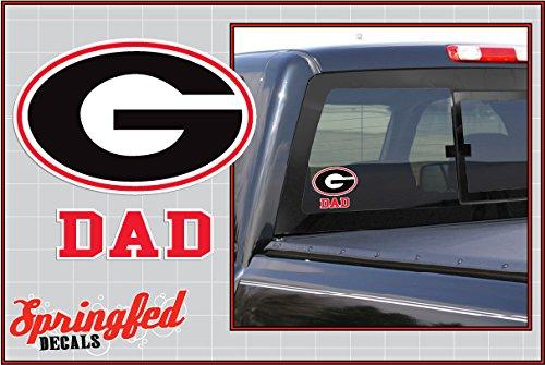 Georgia Bulldogs G w/Red Block DAD Vinyl Decal Car Truck Sticker UGA Georgia Dad