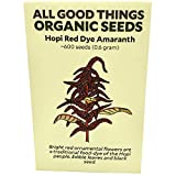 Hopi Red Dye Amaranth Seeds (~600): Certified Organic, Non-GMO, Heirloom, Open Pollinated Seeds from The United States