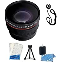 Wide Angle Lens Kit includes High Definition 37mm 0.43x Professional Wide Angle HD Converter Lens With Macro Includes Pouch For Lens + Lens Cap Keeper + Mini Tripod + LCD Screen Protectors + Camera Cleaning Kit For JVC GZ-HD500, GZ-HD620, GZ-HM300, GZ-HM320, GZ-HM340, GZ-HM550 High Definition HDD Camcorder