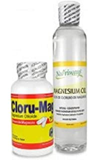 Magnesium Chloride Bundle of 2 Items: Cloru-Mag Plus & Concentrated Oil 12 Oz