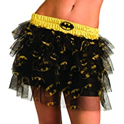 Secret Wishes  DC Comics Justice League Superhero Style Adult Skirt with Sequins Batgirl, Black, One Size