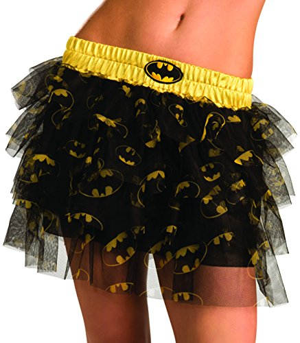 Secret Wishes  DC Comics Justice League Superhero Style Adult Skirt with Sequins Batgirl, Black, One Size ()