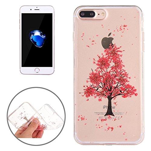 MXNET Iphone 7 Plus Fall, Epoxy Dripping gepresst echte getrocknete Blume weichen transparenten TPU Schutzhülle CASE FÜR IPHONE 7 PLUS ( SKU : Ip7p0996q )