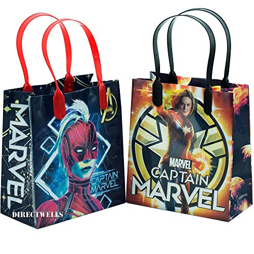 Superwoman Party Supplies (Captain Marvel Authentic Licensed 12 Party Favor Small Goodie Bags)