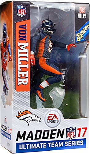 newest fc453 05dd4 McFarlane Von Miller NFL Madden 17 Action Figure Denver Broncos Color Rush  Uniform