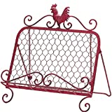 Rooster Cookbook Tablet Stand Iron Country Kitchen Red Holder Book Home Decor BESTChoiceForYou