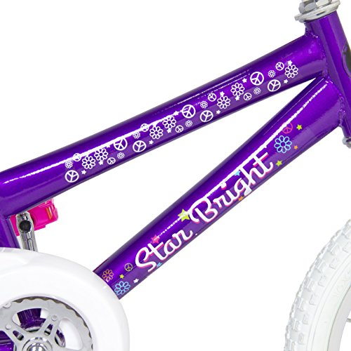 BCP 16'' Girl's Purple Princess Bike W/ Training Wheels & Basket Kid's Bicycles by Best Choice Products (Image #4)