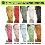 10X CASMARA Mask Premium Package (10 Multi Colors) + 1 Mixing Spatula and 2 Korean Skincare Samples (10 COLORS) For Sale