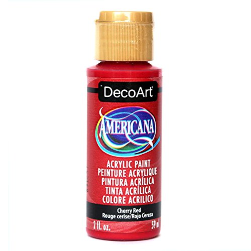 - DecoArt Americana Acrylic Paint, 2-Ounce, Cherry Red