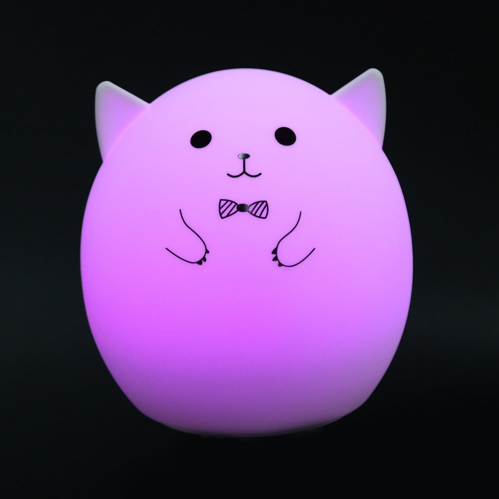 MKChung Mini LED Night Light, Cute Animal Shape Silicone Decompression Lamp for Student Kid Gift (Colorful)(Style 1) by MKChung (Image #9)