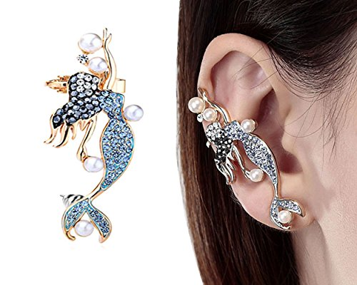 [CIShop Diamond Sweet Mermaid Fairy Earcuff Earrings Punk Syle Ear Wrap(Right Ear)] (Punk Fairy Costumes)