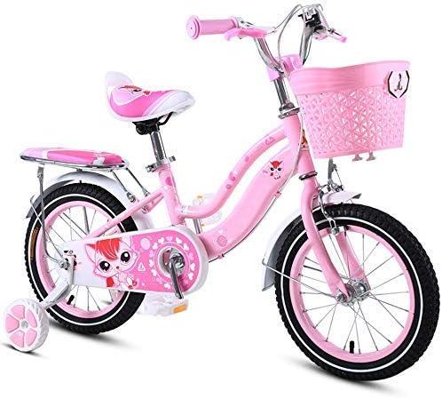 YSA キッズバイク、トレーニングホイール付きキッズ自転車12/14/16/18インチの男の子と女の子のサイクリング、2〜9歳の子供に適したトレーニングホイール