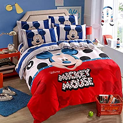 Amazon.com: Olwen Shop Bedding Sets - Mickey Mouse Duvet Cover Set ...