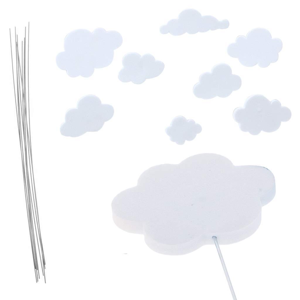 iZoeL Rainbow Cake Topper Kit Cloud Globo aerost/ático Feliz cumplea/ños Banner Pastel Decoraci/ón Paquete de 21 para Ni/ños Chicas Ni/ños Cumplea/ños
