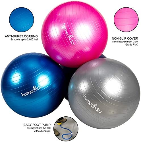Homecircles Large Extra Thick Exercise Ball 65cm