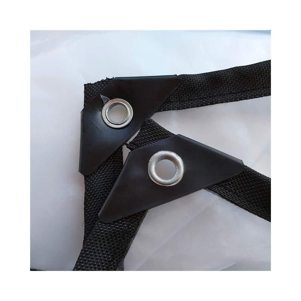 WANGFANGW BÂche Extérieure Transparente en Tissu Imperméable, Auvent Perforé Imperméable en Plastique De Tissu en Plastique épais De 0,12 Mm BÂche