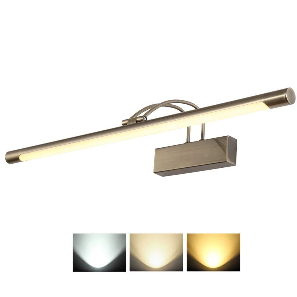 Mbd Bathroom Mirror Lamps, Wall Display Lighting LED Light -Fashion Waterproof Anti-Fog Mirror Cabinet Lighting Makeup Wall Lamp - 3 Color Light Source (Size : 36cm)